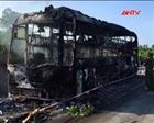 Cháy xe giường nằm, 46 hành khách chạy thoát thân