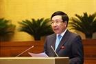 Phó Thủ tướng Phạm Bình Minh trả lời chất vấn việc chậm giải ngân nguồn vốn ODA
