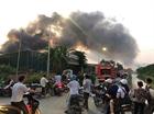 Cháy xưởng sản xuất mũ bảo hiểm tại huyện Hoài Đức