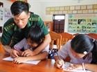 Lớp học tại Đồn biên phòng Bình Minh