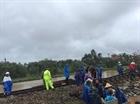 Đường sắt hủy bỏ một số chuyến tàu do mưa lũ
