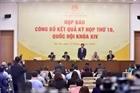 Họp báo về kết quả kỳ họp thứ 10, Quốc hội khóa XIV
