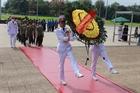Cán bộ chiến sỹ Cục Truyền thông CAND vào Lăng viếng Chủ tịch Hồ Chí Minh