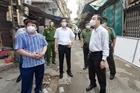 Chủ tịch Hà Nội thị sát, kiểm tra công tác phòng chống dịch