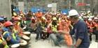 Đánh trống giảm stress của thợ xây ở Chile