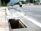 Quảng Ngãi: Hàng loạt nắp cống thoát nước bị mất cắp