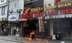 Cháy lớn tại một quán lẩu quận Thanh Xuân