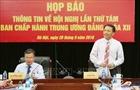 Hội nghị lần thứ tám BCH TƯ Đảng khóa XII diễn ra từ ngày 2-6/10
