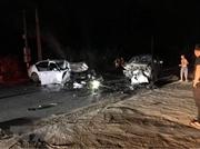 Ô tô phóng nhanh lấn làn gây tai nạn kinh hoàng