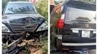 Xe Lexus lao ngược chiều gây tai nạn liên hoàn