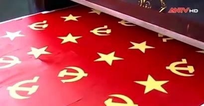 Làng nghề may cờ Tổ quốc nhộn nhịp phục vụ bầu cử