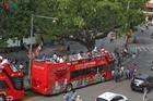 Xe buýt 2 tầng chính thức hoạt động tại Hà Nội