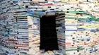 Tháp sách nặng 14 tấn ở Trung Quốc
