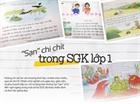 """Phụ huynh bức xúc với """"sạn"""" trong SGK tiếng Việt lớp 1"""