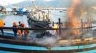 Cháy tàu cá liên hoàn thiệt hại khoảng 14 tỉ đồng