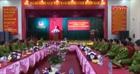 Thứ trưởng Bùi Quang Bền làm việc với Cảnh sát PCCC Nghệ An