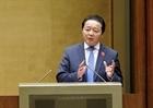 Bộ trưởng Tài nguyên và Môi trường trả lời chất vấn trước Quốc hội