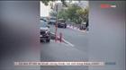Đi vào đường cấm, ô tô 7 chỗ bị xe cứu thương ép lùi