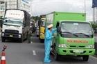Xe vận tải luồng xanh phải khai báo y tế trên hệ thống quản lý công dân vùng dịch
