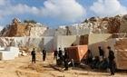 Hiện trường điểm khai thác đá trắng trái phép quy mô lớn