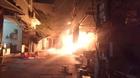 Cháy lớn trong đêm tại chợ Dịch Vọng