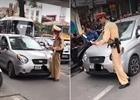 Nữ tài xế ô tô vi phạm lái xe đẩy CSGT