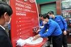 Trạm rửa tay dã chiến đầu tiên tại Hà Nội