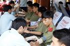 Trường Cao đẳng ANND II hiến máu tình nguyện