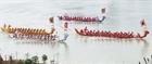 Hội thi bơi chải truyền thống trên sông Lô